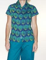 Shirt blue and green woman Kali Yog Boni