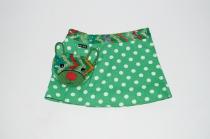 Child Wrap skirt Moshiki, ajustable waist 3 to 6 YO, reversible, summer A