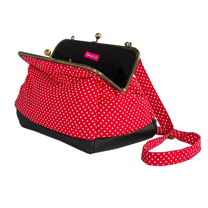 red clip handbag Bibop and Lula