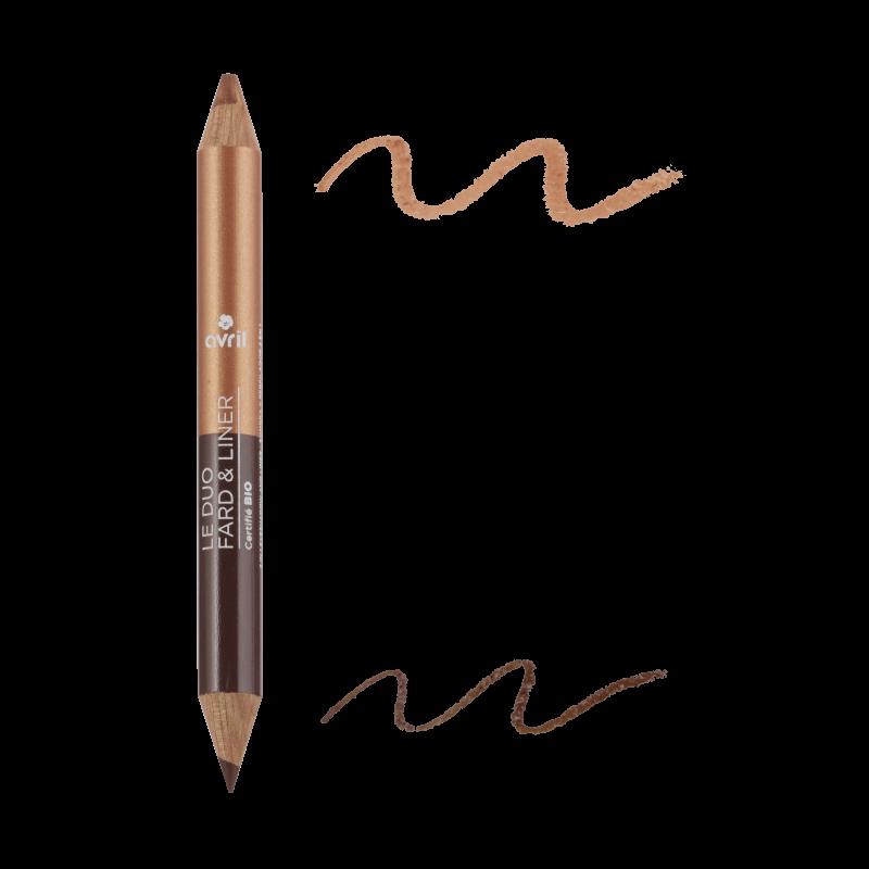Duo eye liner Bronze & Copper / Gold Beige Avril cosmetic
