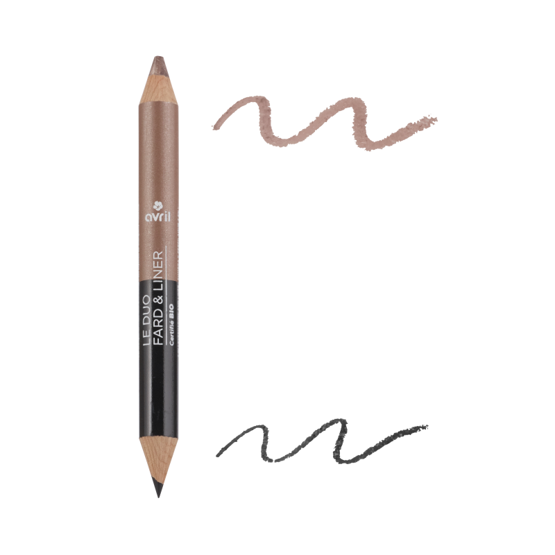 Duo eye liner Black & Charcoal / Pearl Taupe Avril cosmetic