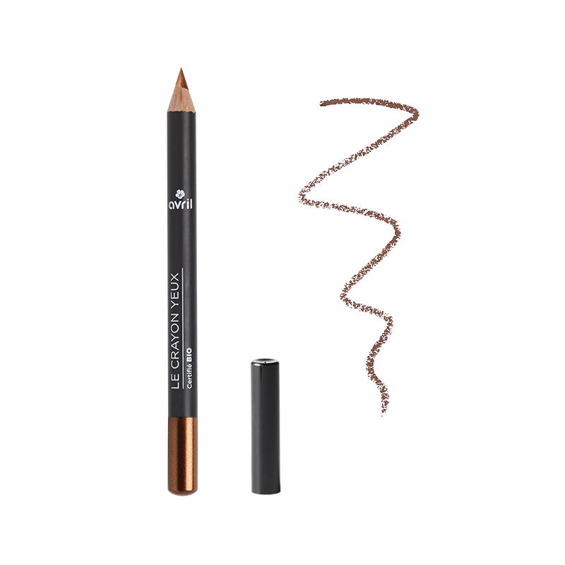 Pencil Eye Copper Bronze Certified Organic cosmetic Avril