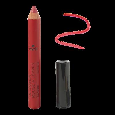 Pencil lipstick True Red Certified Organic cosmetic Avril