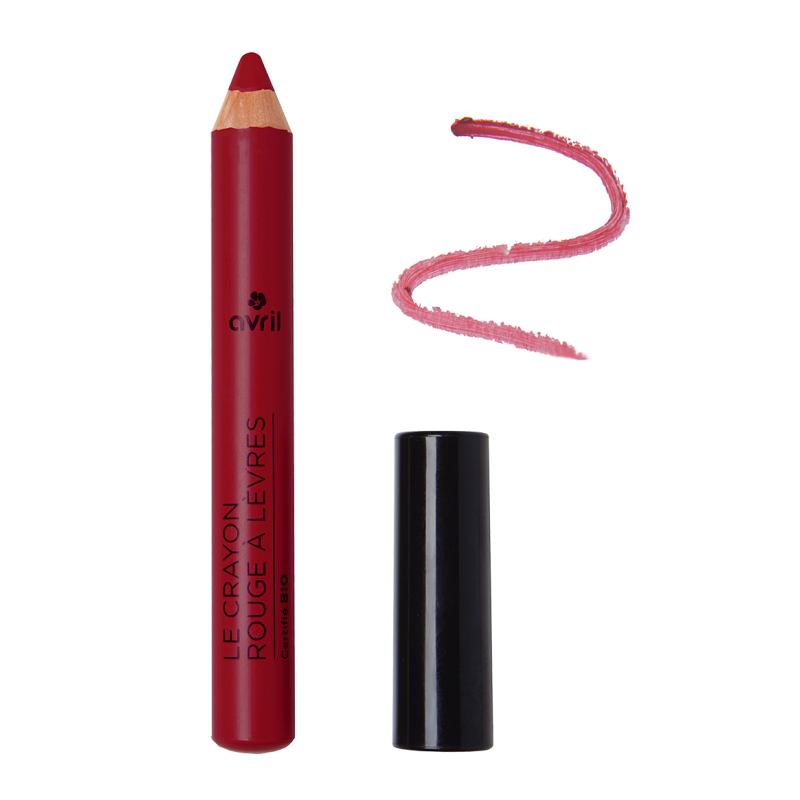 Pencil lipstick burgundy Chestnut Certified Organic cosmetic Avril