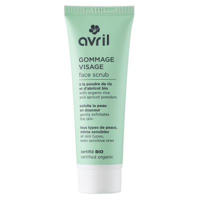 Face Scrub 50ml - Certified Organic cosmetic Avril
