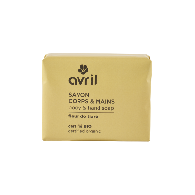 Soap Hand & Body Tiare Flower 100g Certified Organic cosmetic Avril