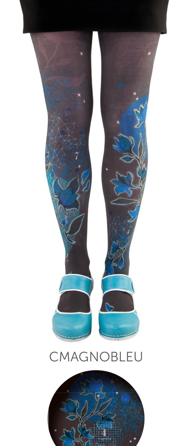 Opaque tights Lili Gambettes, Magnolia blue