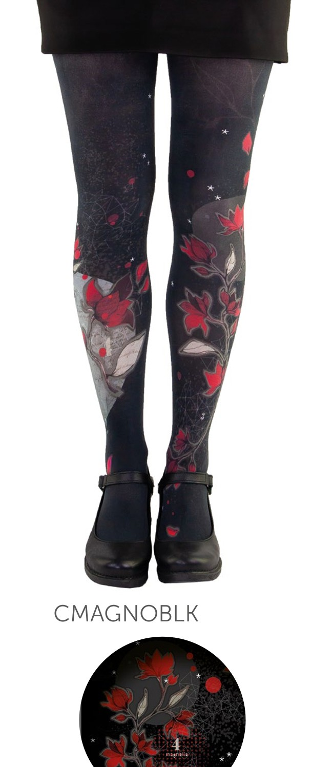 Women's tights Lili Gambettes, Magnolia black