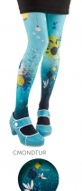 Fantasy tights wife Lili Gambettes, turquoise