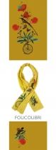 Original scarf Lili Gambettes theme Hummingbird