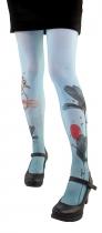 Designed tights Lili Gambettes, Grey flamingo