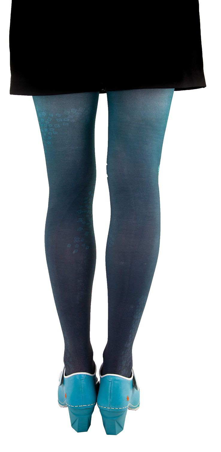 Tights japanisans Lili Gambettes, blue background