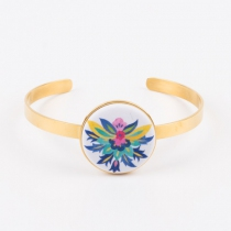 Gold plated Bracelet, small magnetic support for Yaya Factory colors
