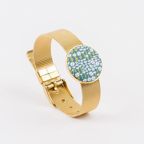 Women's watchband gold plated support 25 mm Yaya Factory