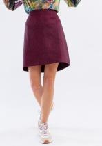 right fuchsia very dark skirt Made in Sens