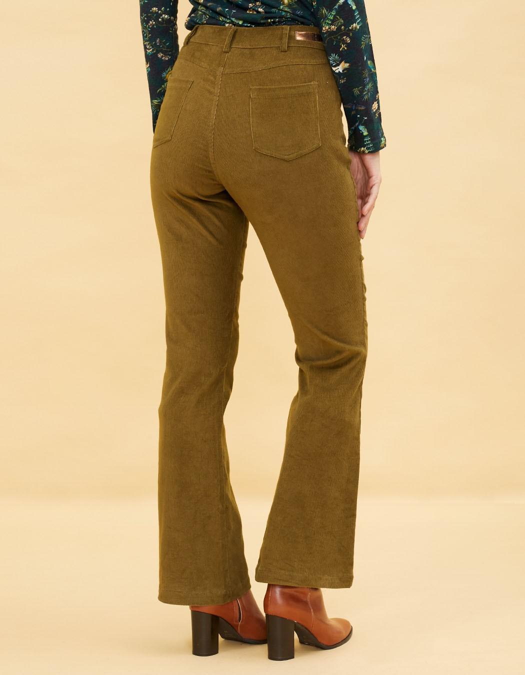 Trousers flared Bride Mekong Sonam olive