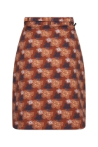 Straight skirt brown FunkyFlavours Live Your Life For Today