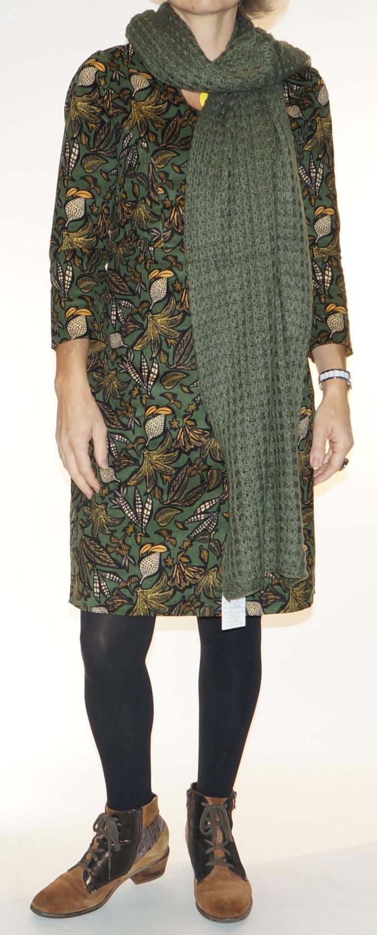 Grande écharpe femme vert kaki Princesse Nomade