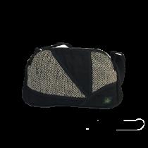 Bag black hand hemp patchwork bag ecological and ethical Bhangara