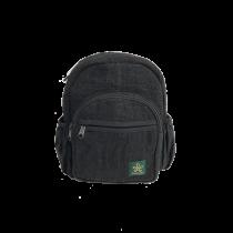 Hemp Mini Backpack Black ecological and ethical Bhangara