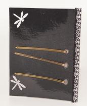 Barrettes hair pins yellow Mam'Zelle Caboche