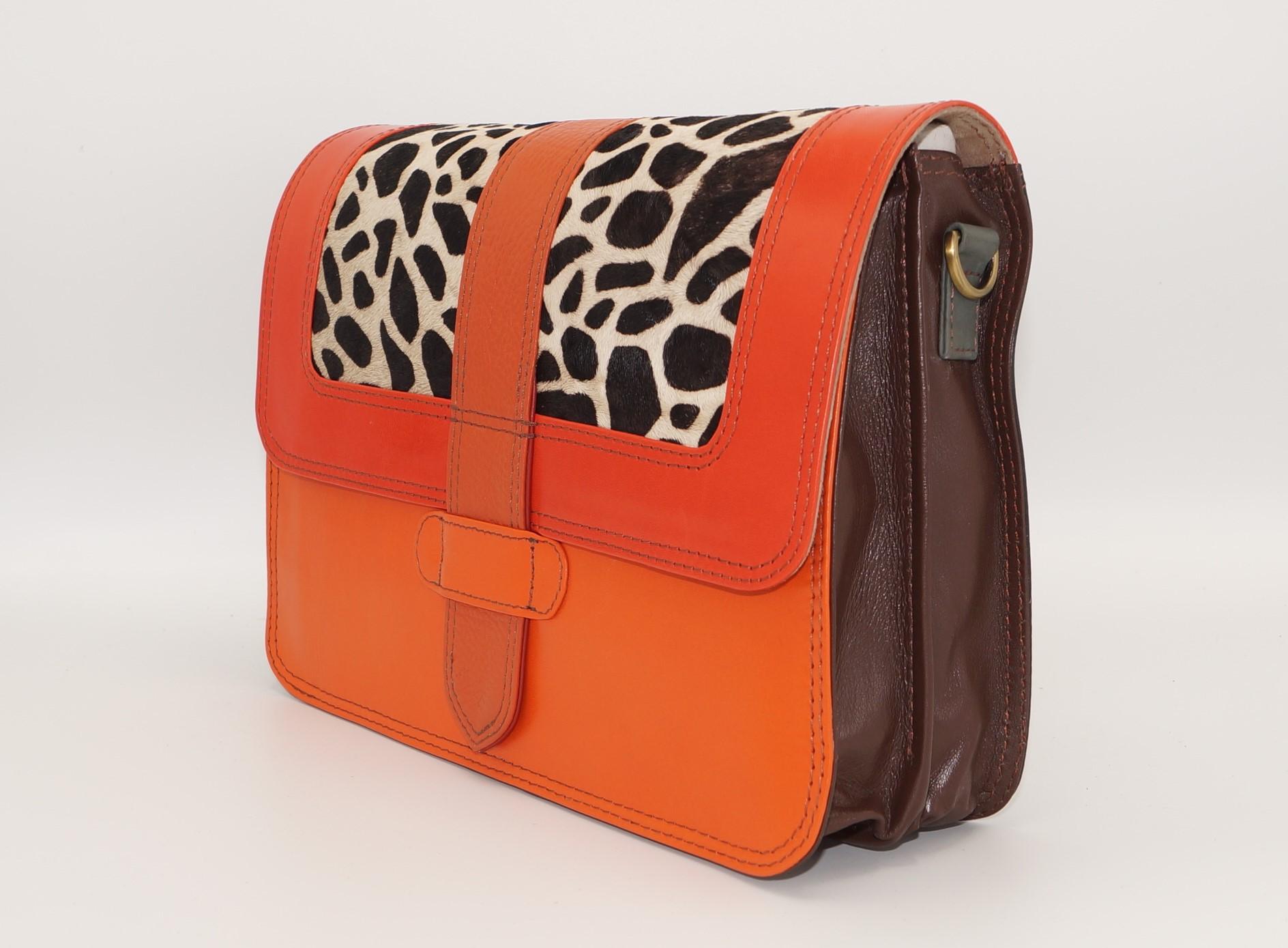 Women leather shoulder bag #12, unique women's bag