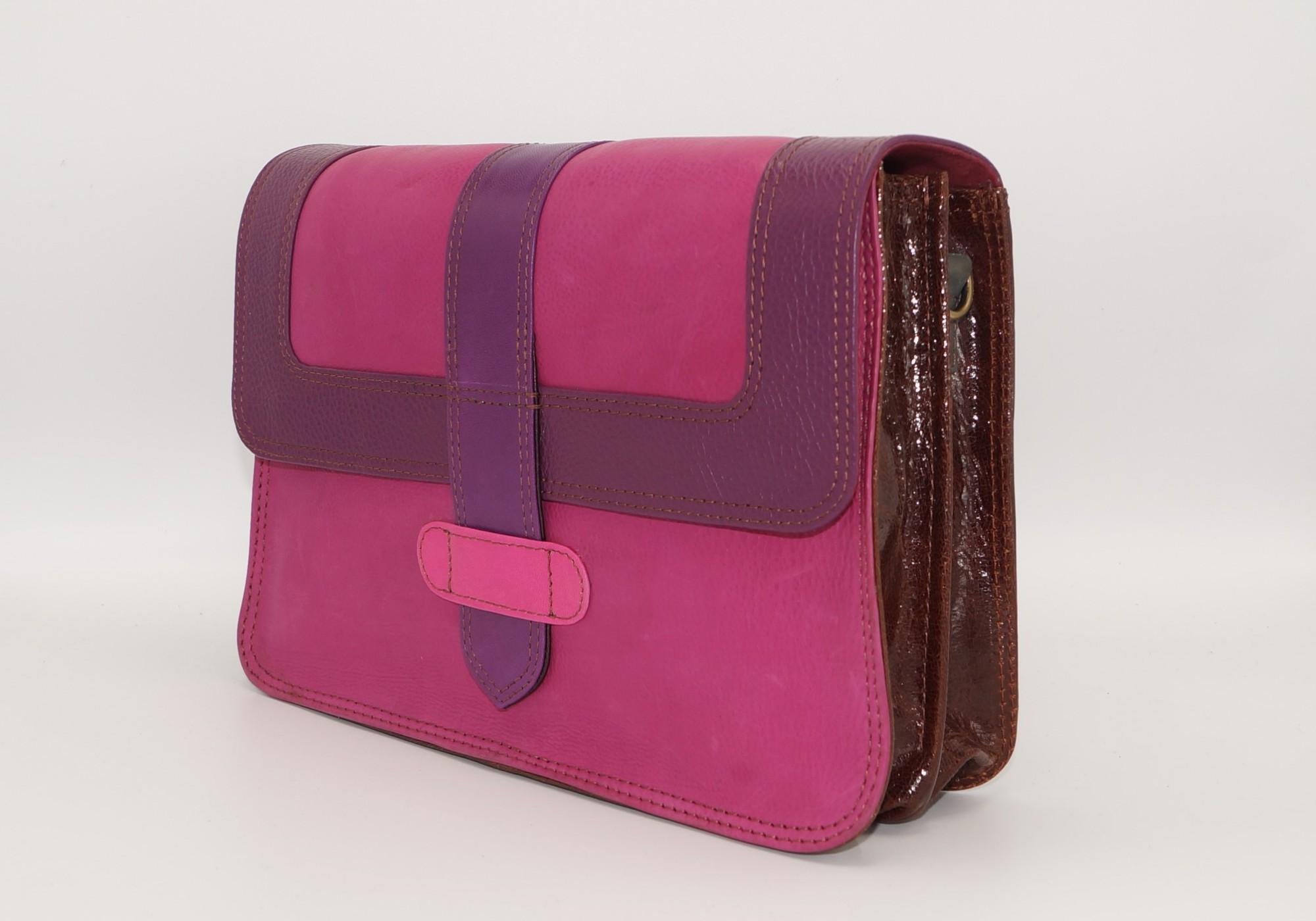 Women leather shoulder bag #14, unique women's bag