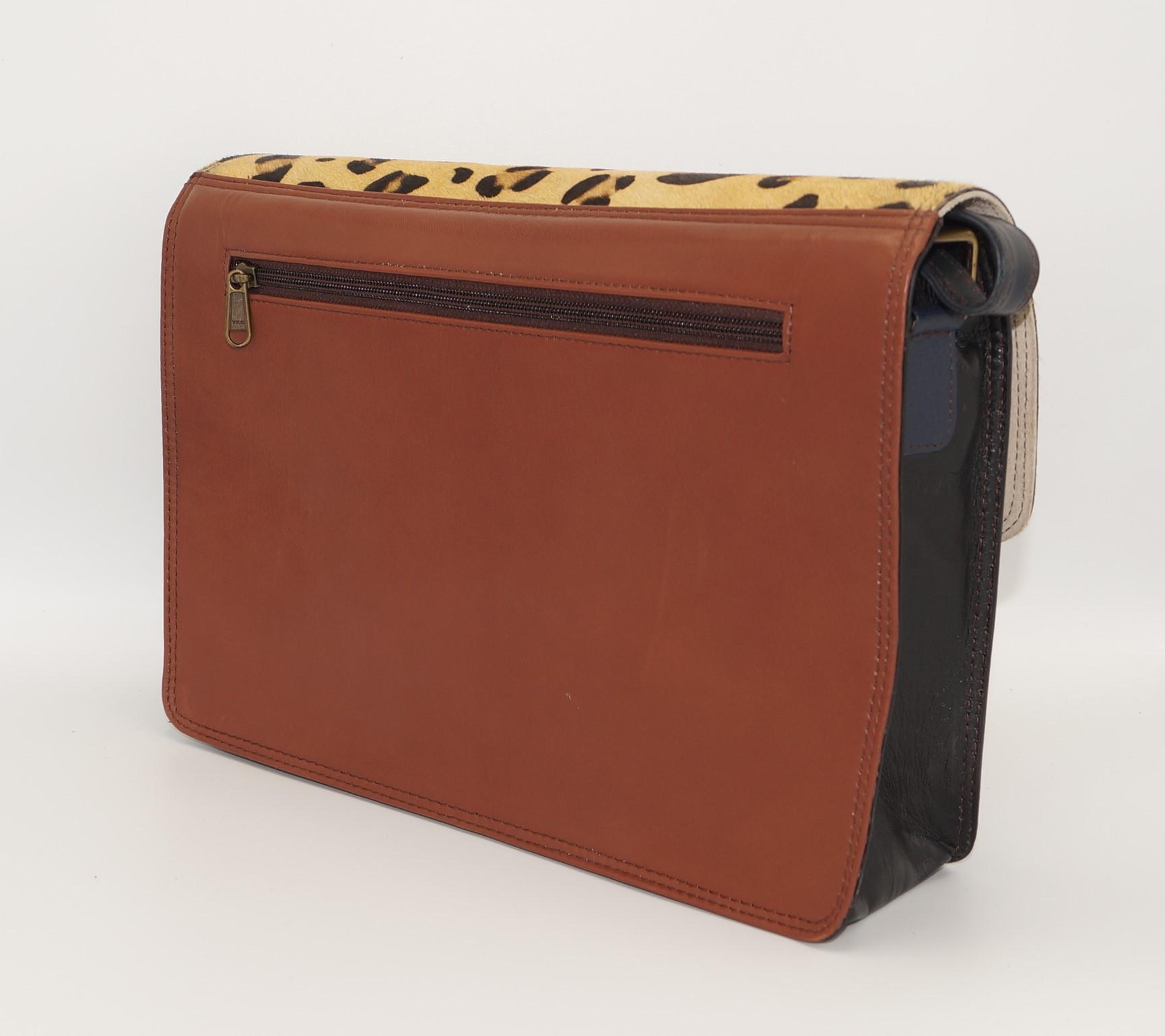 Leather briefcase / satchel, women's document holder  #7