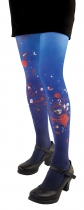 Funny, fancy blue tights original Liligambettes Luck