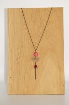 Long Necklace, original hanmade, Elmalao, red