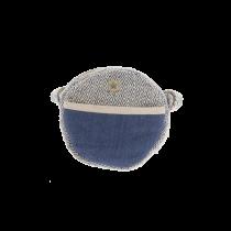 Besace ronde bleue en chanvre Bhangara