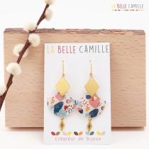 Boucle d\'oreille dormeuse La Belle Camille Celeste Or