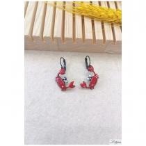 Boucle d\'oreille LOL bijoux crabes rouges