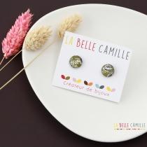 Boucle d\'oreille puce originale La Belle Camille Lili