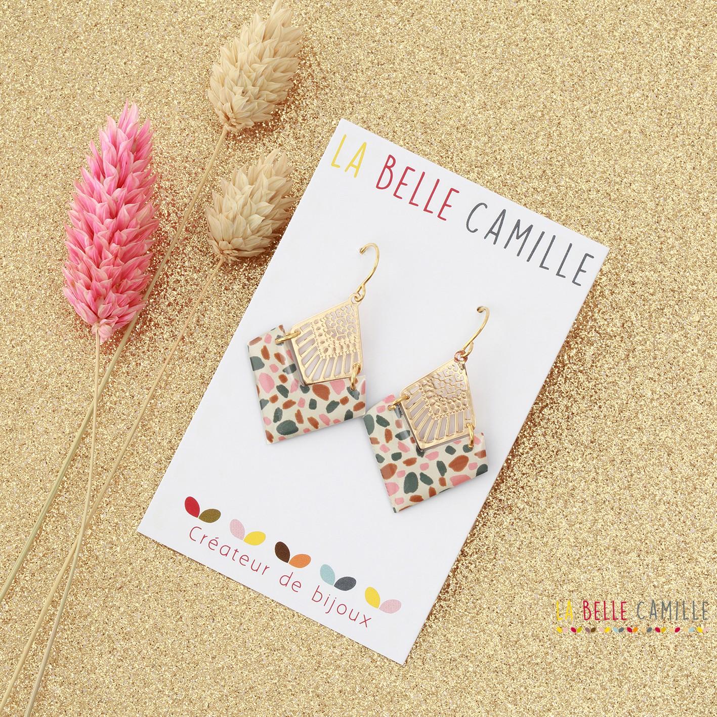Boucle d\'oreille vintage Emma Or La Belle Camille