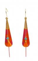 Boucle pendantes bohemian rouges Sosol & Sea