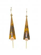 Boucle pendantes fidji jaunes Sosol & Sea