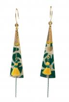 Boucle pendantes wallis vertes Sosol & Sea