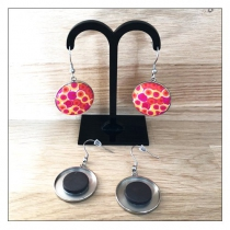 Boucles d\'oreilles acier inoxydable support 25 mm Yaya Factory