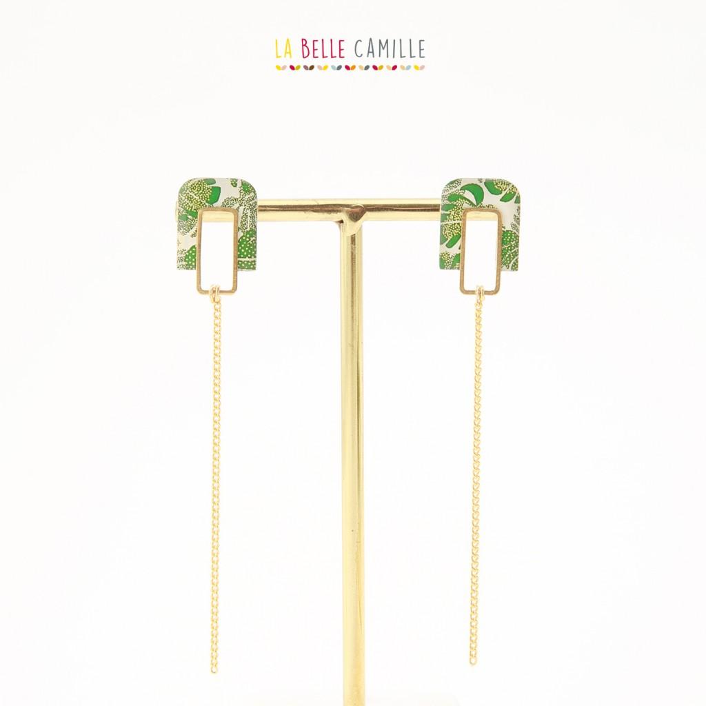 Boucles d\'oreilles Agathe Petite Or La Belle Camille