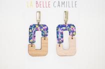 Boucles d\'oreilles clou originales La Belle Camille Jade
