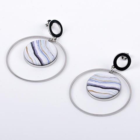 Boucles d\'oreilles créole cercle support 25mm Yaya Factory