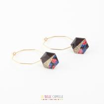 Boucles d\'oreilles Créoles Olympe or La Belle Camille