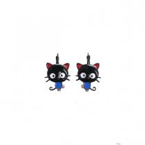 Boucles d'oreilles Kitty noir Lol Bijoux