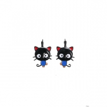 Boucles d\'oreilles Kitty noir Lol Bijoux