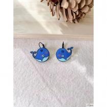 Boucles d\'oreilles Lol Bijoux baleine bleue