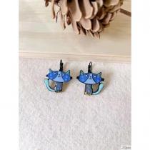 Boucles d\'oreilles Lol Bijoux chat bleu