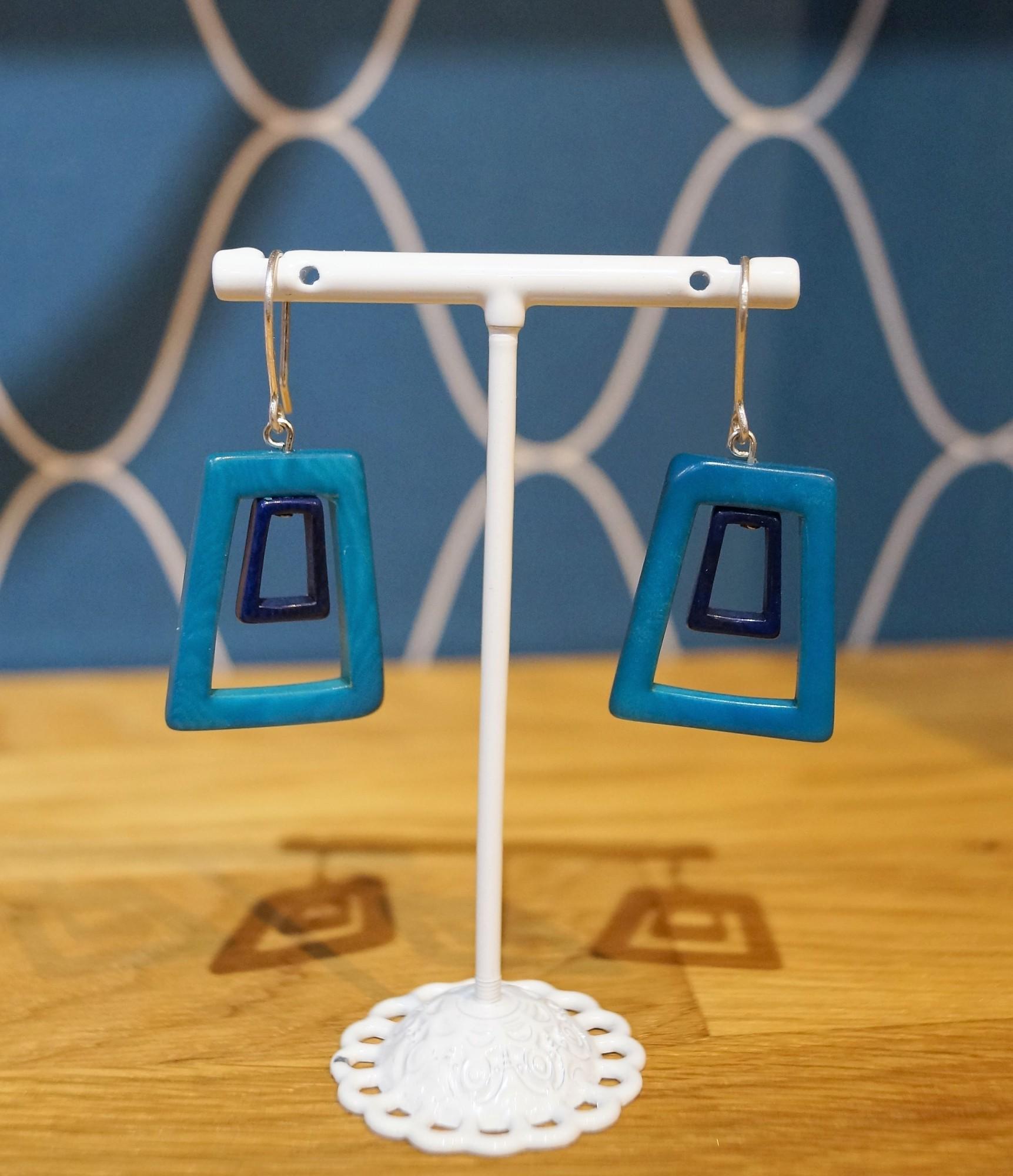 Boucles d\'oreilles Nodova Minos turquoise