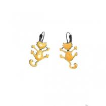 Boucles d\'oreilles Oscar jaune Lol Bijoux
