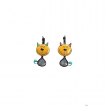 Boucles d\'oreilles Tom jaune Lol Bijoux
